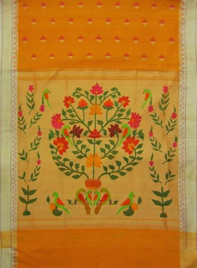 The Amarvel motif pallu