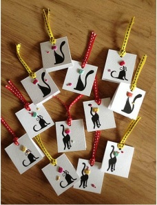 Tailor Made Kitty Cat Tags by Radhika Nag