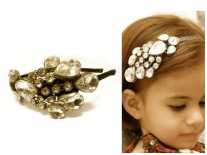 Gorgeous Moghul Inspired Bead Hairband for girls by D'chica