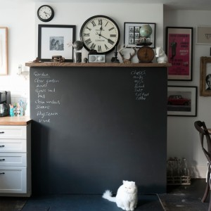 Chalk board in the kitchen