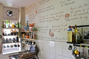 Kitchen grafitti by Sahanha Sing