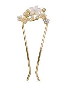 Sparkle Street Gold Toned White Hairpin on Amazon