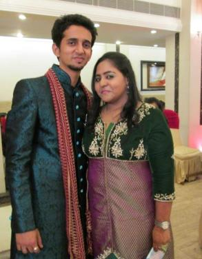 Richa with her brother