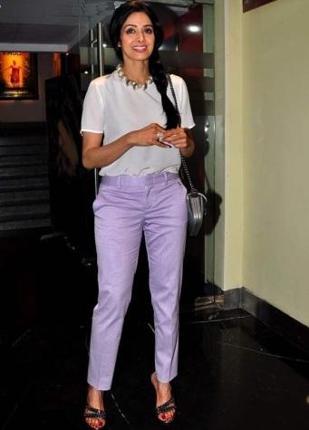 Sridevi in Lavender Herb coloured pants