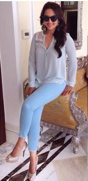 Sonakshi Sinha in a Scuba Blue ensemble