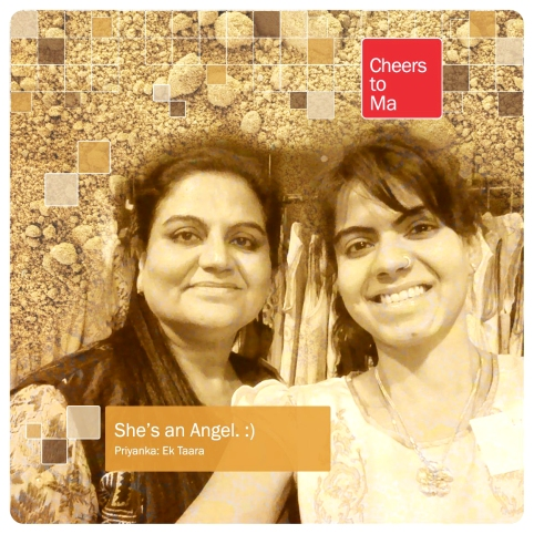 Priyanka Chugh of Ek Taara with her Ma