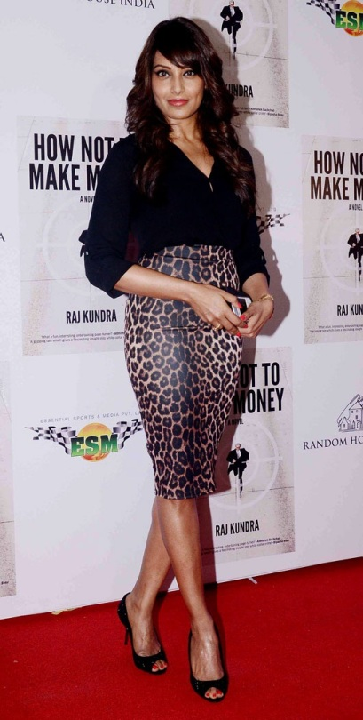 Bipasha Basu in a Leopard Print A Skirt