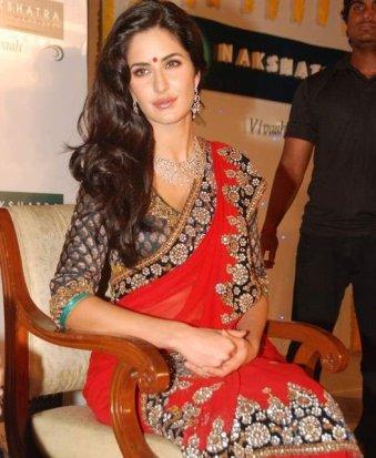 Katrina Kaif donning a Bindi
