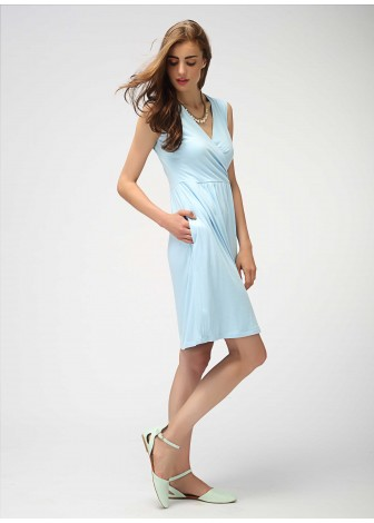 Powder Blue Wrap Dress