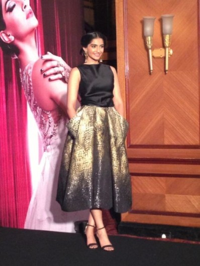 Sonam Kapoor in a Midi Skirt