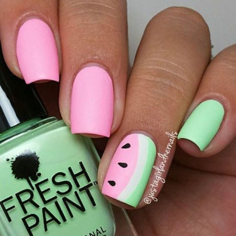summer-cool-watermelon-nail-art