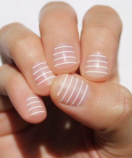 white-stripe-nail-wrap-pinterest