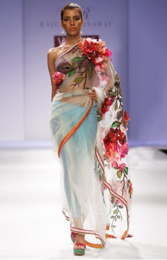 Aqua-Embroidered-Saree-Rajdeep-Ranawat-Red-Polka
