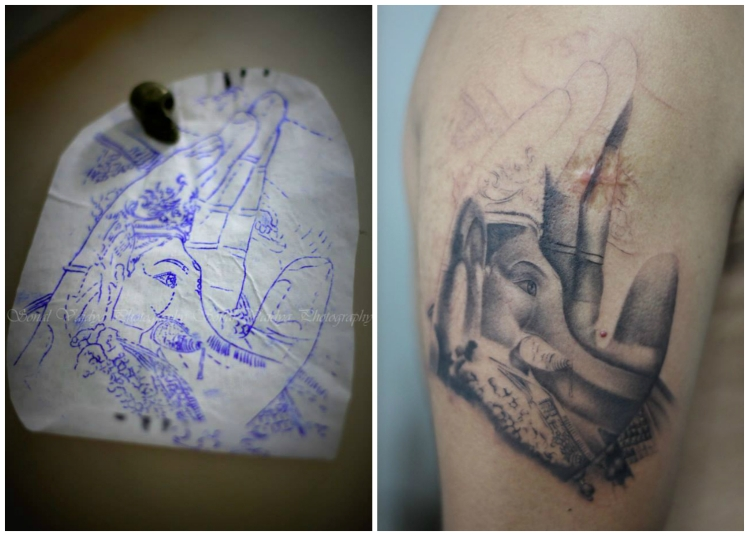 ganpati-collage-tattoo-amit-rajwadkar