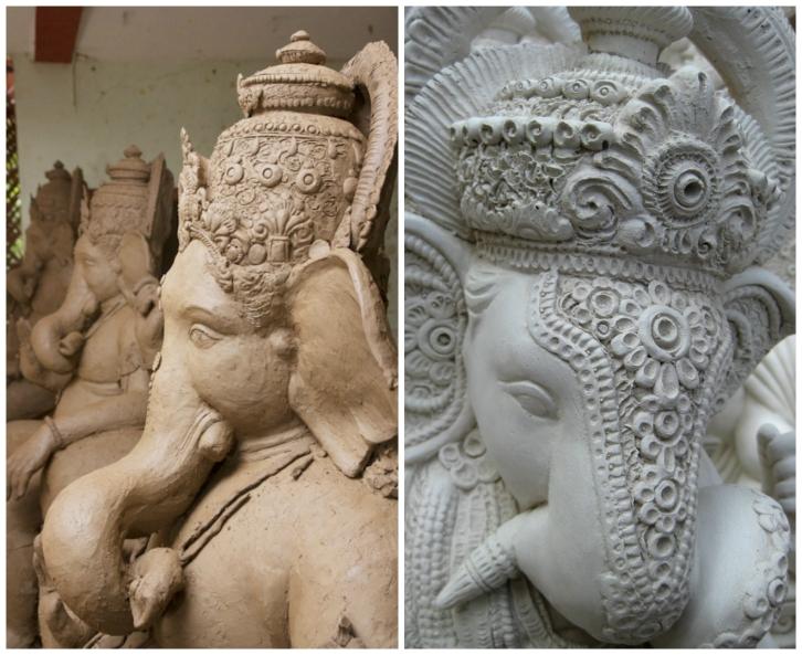 ganpati-in-the-making-collage