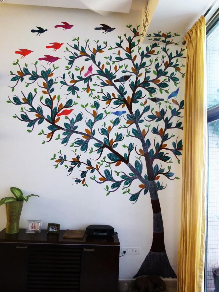 Gond tree with birds