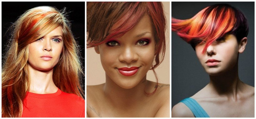 orange hair collage