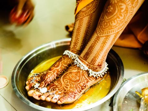 Bridal Feet with Mehndi