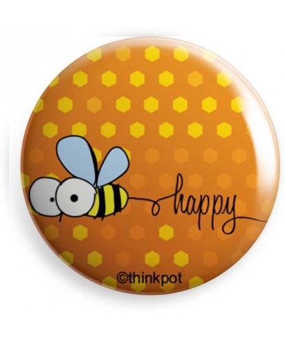 Be-Happy-Badge-Think-Pot-Red-Polka