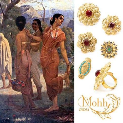 beautiful rings inspired by the beautiful story of Shakuntala