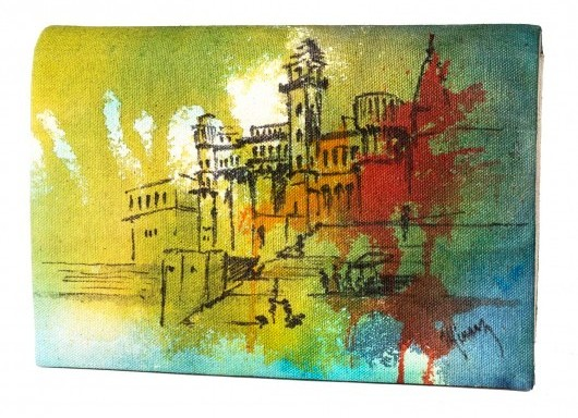 Chants of the Ganga - Canvas Clutch