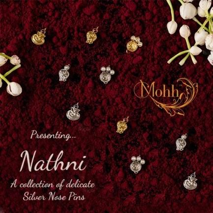 Nathni- Silver Nose Pins