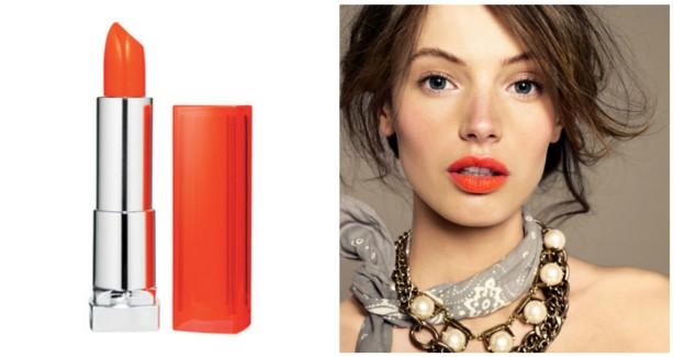 orange lips collage