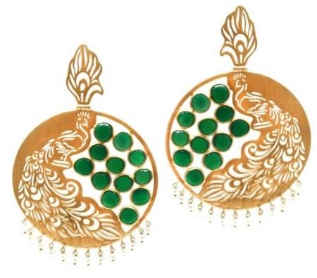 silver earrings with oynx- pulido bozal- red polka
