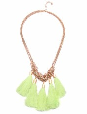 Yellow Tassel Necklace-Habbana